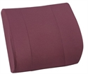 "Picture of Lumbar Back Cushion Relax-A-Bac with Board Insert (14"" x 13"") Burgundy Removable Cover aka Lumbar Cushion, Comfort Back Cushion, Burgundy Back Cushion"