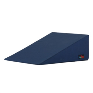 "Picture of 10"" Bed Wedge with Navy Bue Cover (10x24x24) aka Hernia Pillow, Reflux Pillow, Lift pillow for snoring, Slope Wedge, Slope Pillow, Positioning Pillow"