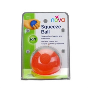 Picture of Nova Squeeze Ball, Soft (Orange) aka Hand Rehab Ball, Soft Exercise Ball, Aids to Daily Living