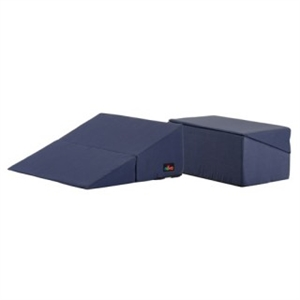 "Picture of Nova Folding Bed Wedge 7"" with Removable Cover (Navy Blue) aka Reflux Pillow, Gradual Slope Pillow, Hiatal Hernia Pillow"