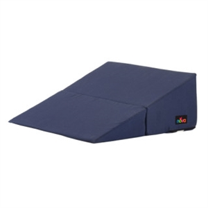"Picture of 10"" Nova Folding Bed Wedge with Removable Cover (Navy Blue) aka Reflux Pillow, Gradual Slope Pillow, Hiatal Hernia Pillow, 10"" Wedge Pillow"