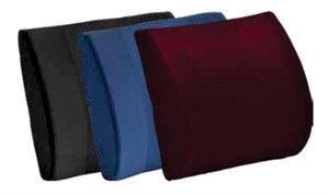Picture of Lumbar Cushion Contourd Standard Foam with Removable (Black) Cover aka Back Cushion, Chair Cushion, Car Cushion