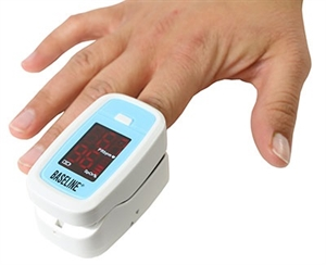 Picture of Baseline® Finger Pulse Oximeter (1 each) Blue aka Pulse Ox Machine, McKesson 12-1926