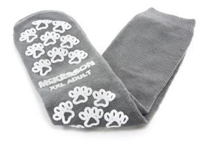 Picture of McKesson Terries Slipper Socks with Treads (Adult XXL/Gray) aka XXL No Slip Socks, Hospital Socks, Gripper Socks, Grippy Socks, McKesson 40-3800, Skid Resistant Tread Socks, MC38001200