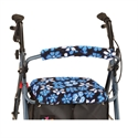 Picture of Nova Rolling Walker Seat and Backrest Cover Set (Aloha Blue Print), aka Cheetah Seat Cover Walker, Walker Accessories, Walker Seat Cover, Walker Backrest Cover, Rollator Covers