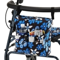Picture of Nova Hanging Walker Pouch (Aloha Blue Print) aka Walker Accessory Bag, Rolling Walker Pack
