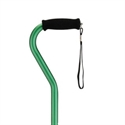 Picture of Nova Aluminum Canes with Offset Handle (Green) aka Adjustable Cane