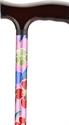 Picture of Nova Designer Aluminum Folding Cane with Standard Base (Pink Garden) aka Walking Cane, Floral Cane, Fashion Cane, Travel Cane