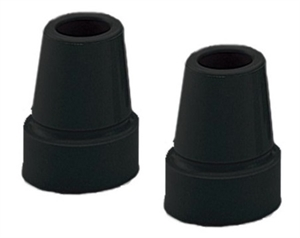 Picture of Cane & Forearm Crutch Replacement Tips (Black) (Pair) aka Cane Tips, Forearm Crutch Replacement Tips, Cane Accessories, Crutch Accessories