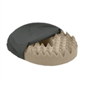 "Picture of Nova 16"" Convoluted Foam Ring Cushion with Removable Cover (Black) aka Eggcrate Cushion, 16"" Donut Cushion, 2"" Seat Cushion"