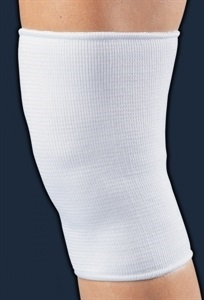 Picture of Elastic Knee Sleeve (White)(Medium) aka Medium Knee Support, Medium Knee Brace, Medium Knee Wrap