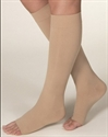Picture of Microfiber Graduated Compression Stockings 20-30 mmHg (Large)(Knee High - Open Toe)(Beige) aka Legwear, Bell Horn Stockings