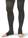 Picture of Microfiber Graduated Compression Stockings 20-30 mmHg (Large)(Thigh High - Open Toe)(Black) aka Leg Wear, Bell Horn Stockings, Open Toe Socks