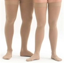 Picture of Microfiber Graduated Compression Stockings 20-30 mmHg (Large)(Thigh-High Close-Toe)(Beige) aka Leg Wear, Thigh High Compression Stockings