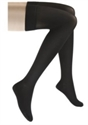 Picture of Microfiber Graduated Compression Stockings 20-30 mmHg (Medium)(Thigh High - Closed Toe)(Black) aka Compression Stockings, Bell Horn Stockings, Thigh High Compression Stockings