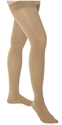Picture of TheraLite Graduated Compression Fashion Stockings 15-20 mmHg (X-Large)(Thigh-High Closed-Toe)(Beige/Lace Top) aka Legwear, Support Hose, Support Stockings