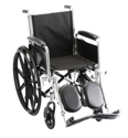 "Picture of Nova 18"" Steel Wheelchair, Fixed Full Arm and Elevating Leg Rests (Nylon Upholstery)"