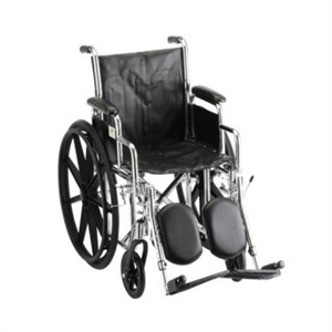 "Picture of Nova 16"" Steel Wheelchair with Desk Arms and Elevating Leg Rests (Vinyl Upholstery)"