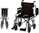 "Picture of Nova 19"" Lightweight Transport Chair with Flip Up Desk Arms (Blue)"