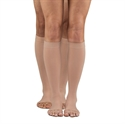 Picture of Dr. Comfort Firm Compression Knee High Open Toe Stockings 30-40mmHg (Medium) aka Men's Compression Stockings, Women's Compression Stockings, Doctor Comfort Socks