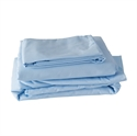 Picture of Hospital Bed Sheet Set (Blue) aka Hospital Bed Sheets, Sheets for at home hospital beds, Free Shipping