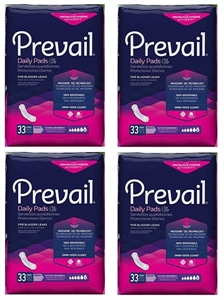 "Picture of Prevail Daily Pads Ultimate 16"" (Case of 132) aka Pantiliners, Incontinent Pads, Bladder Control Pads, Prevail PV-923, Maxi Pad"