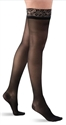 Picture of Dr Comfort Select Sheer Compression Stockings 15-20 mmHg (Large)(Thigh-High Closed-Toe)(Lace Top/Black) aka Dr Comfort Stockings, Thigh High Stockings, Support Hose, Previously BH11910L